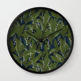Lily of the Valley Field Wall Clock