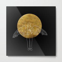 michael and the moon Metal Print