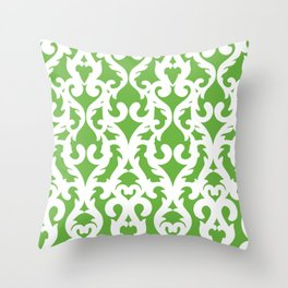 Modern Baroque Green Throw Pillow