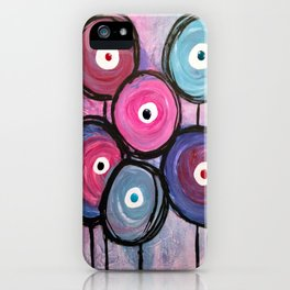 Abstract Circle Flowers iPhone Case