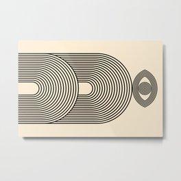 Abstraction_EYE_POP_ART_LINE_Minimalism_029AA Metal Print