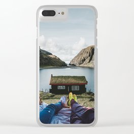 Peace and Quiet at the Faroe Islands Cottage Clear iPhone Case