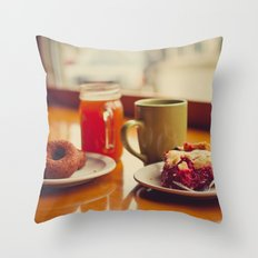 Downtown with a Friend Throw Pillow