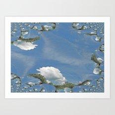 Blue Skies Fractal Art Print
