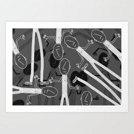 Night Zipper Band Art Print