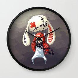 Bunny Plush Wall Clock