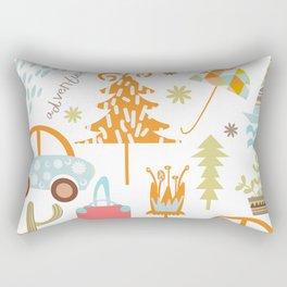 Travl patter 4b Rectangular Pillow