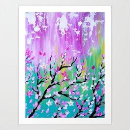 Weathered Cherry Blossom Art Print