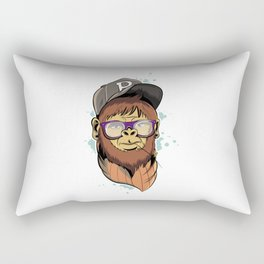 Hipster Monkey Rectangular Pillow