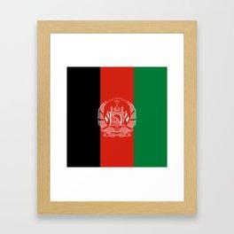 Flag: Afghanistan Framed Art Print