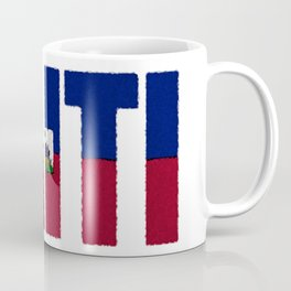 Haiti Font with Haitian Flag Coffee Mug