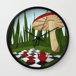 Wonderland Travel Poster Wall Clock
