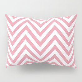 Zigzag Pattern, Chevron Pattern - White Pink Pillow Sham