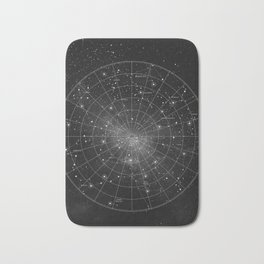 Constellation Star Map (B&W) Bath Mat