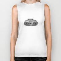 radio Biker Tanks featuring Radio by Rachel Zaagman