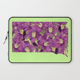 South Dakota in Flowers Laptop Sleeve