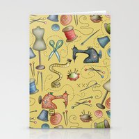 sewing Stationery Cards featuring Sewing tools by Catru