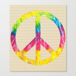Tie-Dye Peace Sign Canvas Print