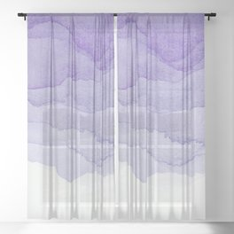 Lavender Flow Sheer Curtain