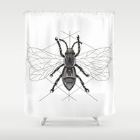insect Shower Curtains featuring insect by silb_ck