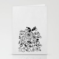 bicycles Stationery Cards featuring Bicycles by Ewan Arnolda