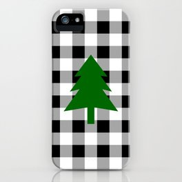 Christmas Tree - black buffalo check iPhone Case