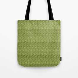 Green Zig-Zag Knit Tote Bag