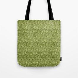 Green Zig-Zag Knit Tote Bag