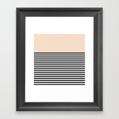 STRIPE COLORBLOCK {CREAM} Framed Art Print