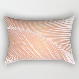 Palm leaf - copper pink Rectangular Pillow
