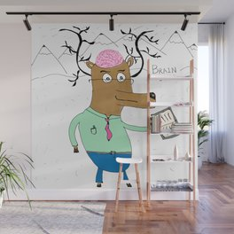 Brain Deer Wall Mural