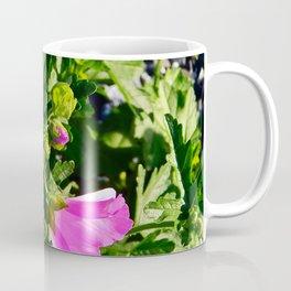 Pink Musk Mallow in September Coffee Mug