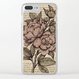 Peonies  - Color Clear iPhone Case