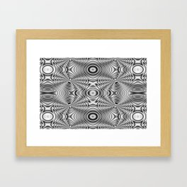 Spider theme B&W Bonitum Ornament #J Framed Art Print