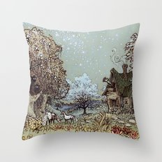 The Gardens of Astronomer Throw Pillow