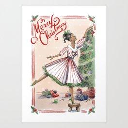 A Classic Christmas Art Print