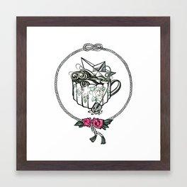 Storm in a teacup Framed Art Print