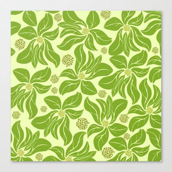 leafy pattern II Canvas Print