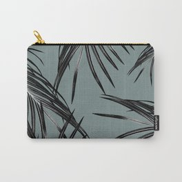 Black Palm Leaves Dream #4 #tropical #decor #art #society6 Carry-All Pouch