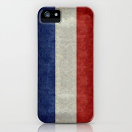 Flag of France, Bright retro style iPhone Case