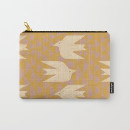 Doves In Flight (Yellow) Carry-All Pouch