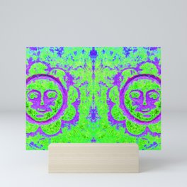 Eternal sunshine (green / purple) Mini Art Print