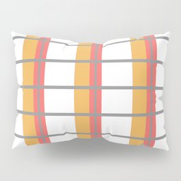 Minimal Abstract Lucite green, Coral, Grey, Honey, and White 08 Pillow Sham