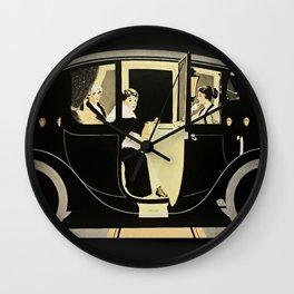 "C Coles Phillips ""Flanders Colonial Electric"" Vintage Car Wall Clock"