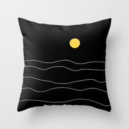 Black Ocean Throw Pillow