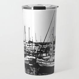 the sea and the ship Travel Mug