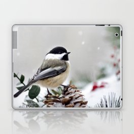 Winter Chickadee Laptop & iPad Skin