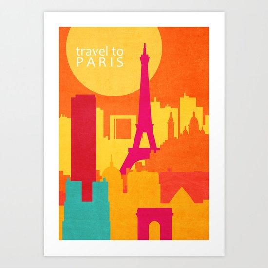 travel to Paris Art Print