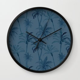 Watercolor Palm Trees 3 Wall Clock