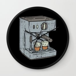 Coffee Espresso Machine. - Version 2 - Gift Wall Clock